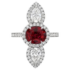 Unheated Ruby Ring 2.09 Carats AGL Certified No Heat