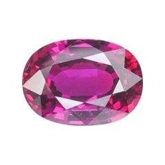 Unheated Ruby Ring Gem 3.04 Carat GRS Certified Vivid Red No Heat Loose Gemstone