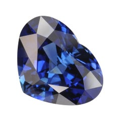Unheated Sapphire Heart Shape 7.57 Carat Gem No Heat Loose Unset Gemstone