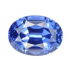 Unheated Sapphire Ring Gem 4.14 Carat Cornflower Blue No Heat Loose Gemstone