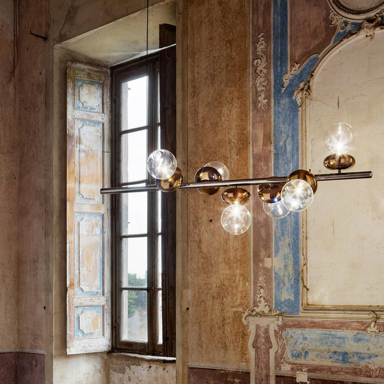 Unica Linear Suspension Lamp In New Condition For Sale In Milan, IT
