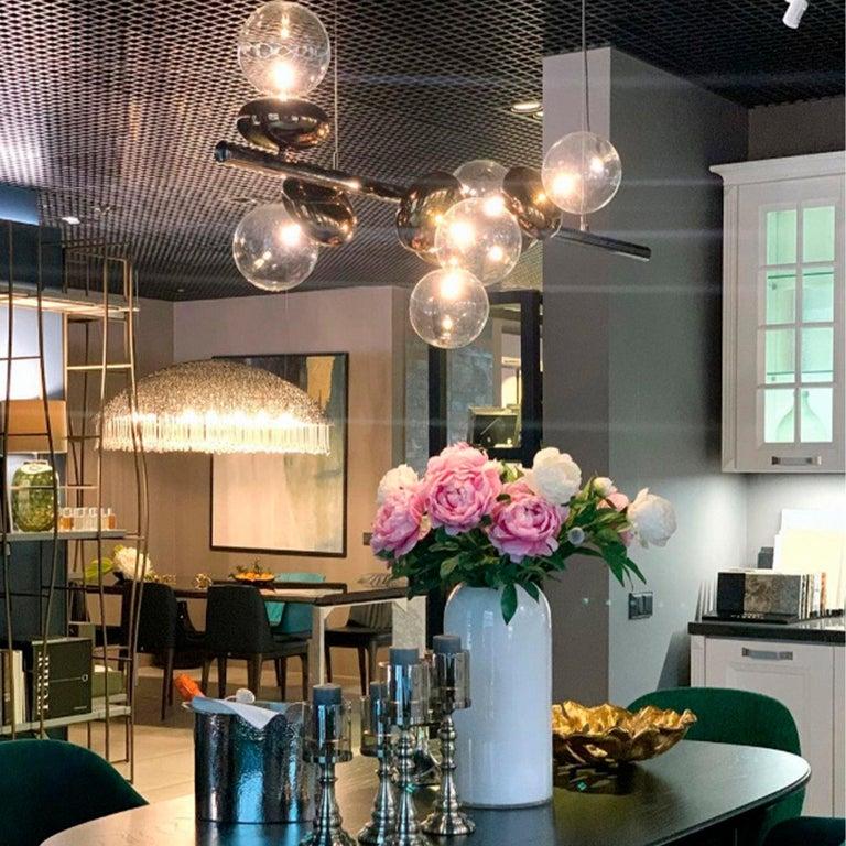 Contemporary Unica Linear Suspension Lamp For Sale
