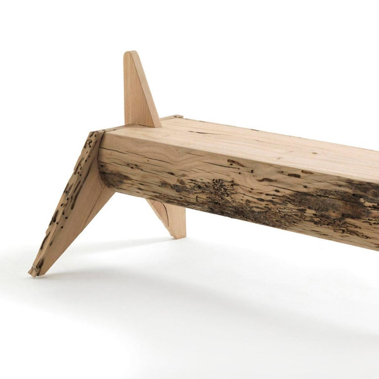 Bench unicorn all in solid oakwood from Venice. Carved oakwood treated with natural pine extracts.