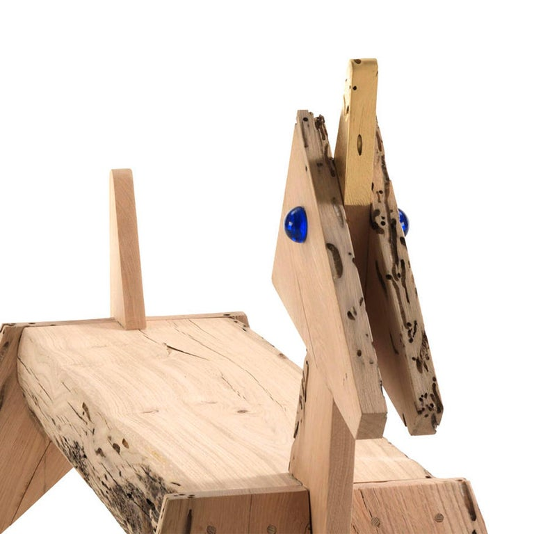 Oak Unicorn Bench For Sale