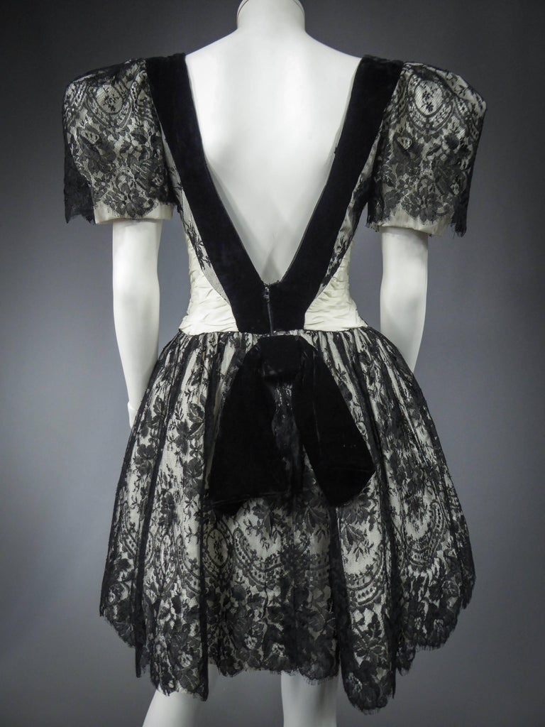 Unidentified French Haute Couture cocktail dress For Sale 6
