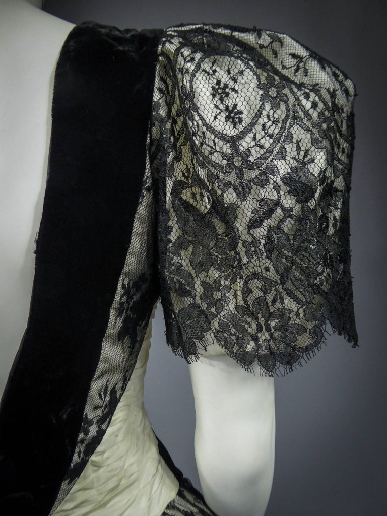 Unidentified French Haute Couture cocktail dress For Sale 7