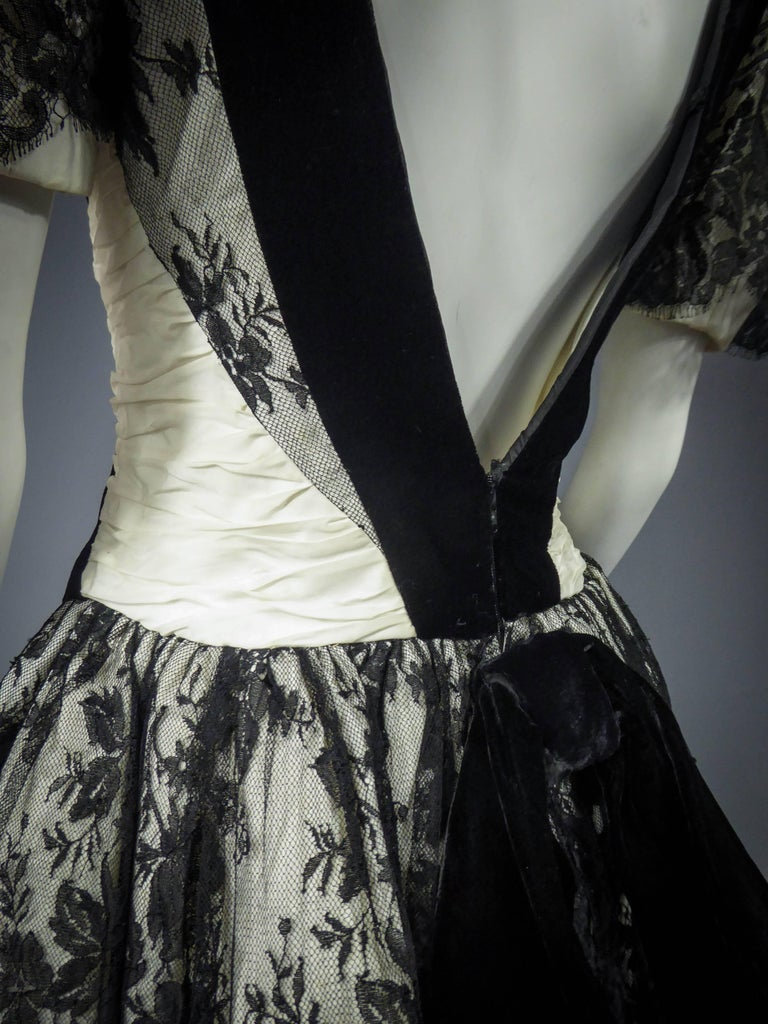 Unidentified French Haute Couture cocktail dress For Sale 8