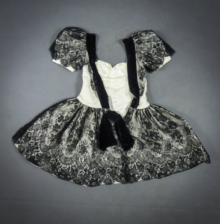 Unidentified French Haute Couture cocktail dress For Sale 10