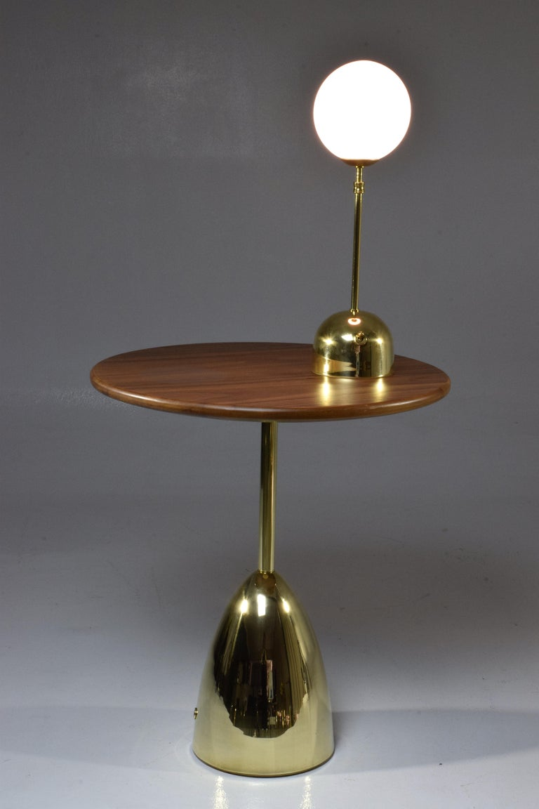 Unio Contemporary Handcrafted Wireless Brass Lamp For Sale 15