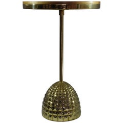 Unio Contemporary Brass Charging Side Table, Flow Collection