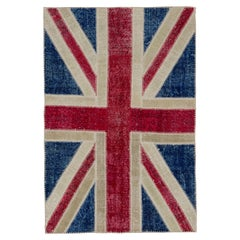 Union Jack British Flag Design Patchwork Rug