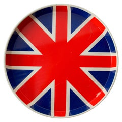 UNION JACK Flag Metal Service Tray made in England Reginald Corfield DUCOR 1970s