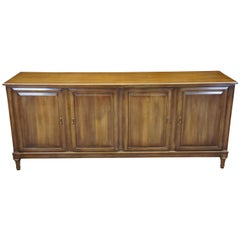 Union National Midcentury Walnut Sideboard Buffet Server Console Cabinet