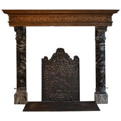 Unique 17th Century Baroque Dutch Fireplace