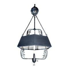 Unique 1800s Mirrored Gas Lamp