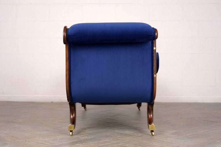 Unique 1860s Regency Style Recamier With Swirl And Reed