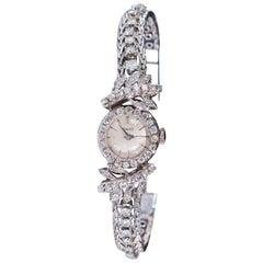 Unique 1960s Piaget 18 Karat Gold Diamond Tree and Leaf Motif Bracelet Watch