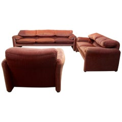Unique 3-Piece Maralunga Seating Group by Vico Magistretti for Cassina, Italy 19