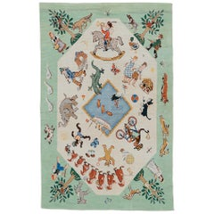 Unique American Art Deco Rug with Grimm Brothers Fairy Tale Characters