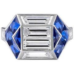 Unique and Gorgeous Designed 1.18 Carat Baguette Diamond Ring