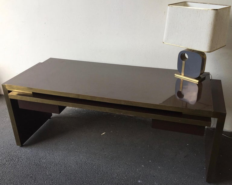 Unique and Important Philippe Jean Executive Desk, Signed For Sale 8