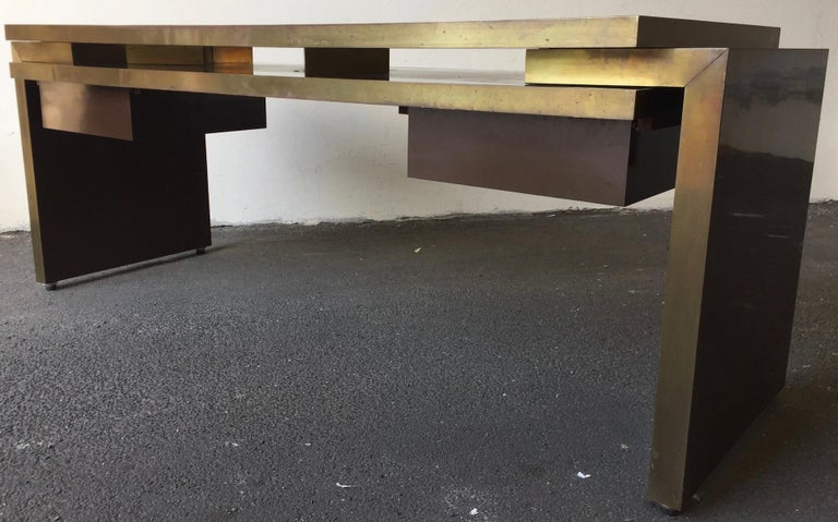 Unique and Important Philippe Jean Executive Desk, Signed For Sale 9
