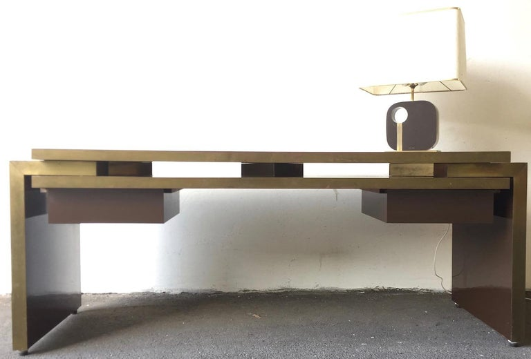 Unique and Important Philippe Jean Executive Desk, Signed For Sale 10