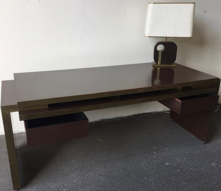 Unique and Important Philippe Jean Executive Desk, Signed For Sale 11
