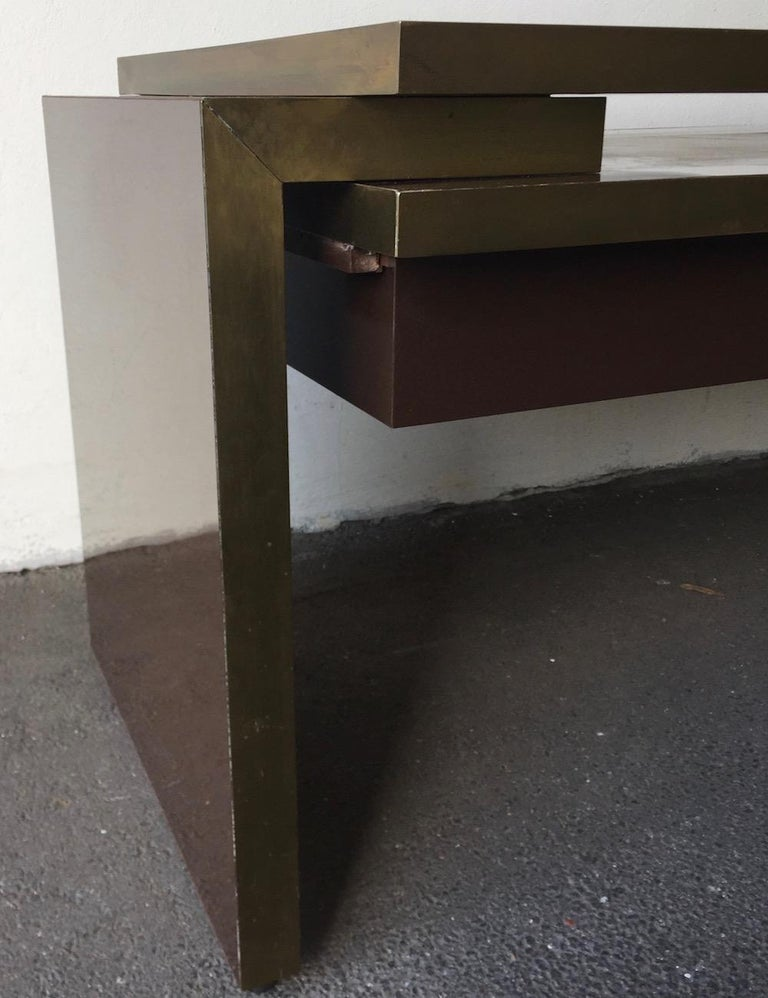 Unique and Important Philippe Jean Executive Desk, Signed For Sale 13