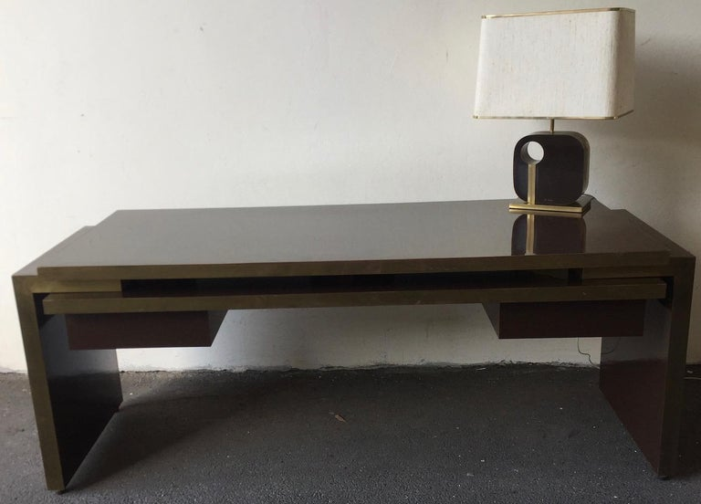 Unique and Important Philippe Jean Executive Desk, Signed For Sale 14