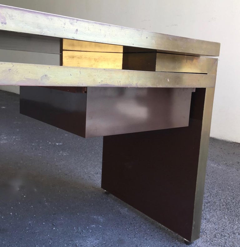 Late 20th Century Unique and Important Philippe Jean Executive Desk, Signed For Sale