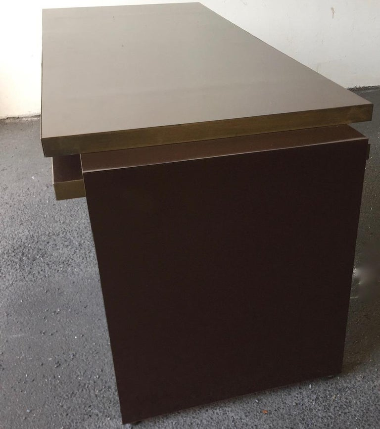 Unique and Important Philippe Jean Executive Desk, Signed For Sale 1