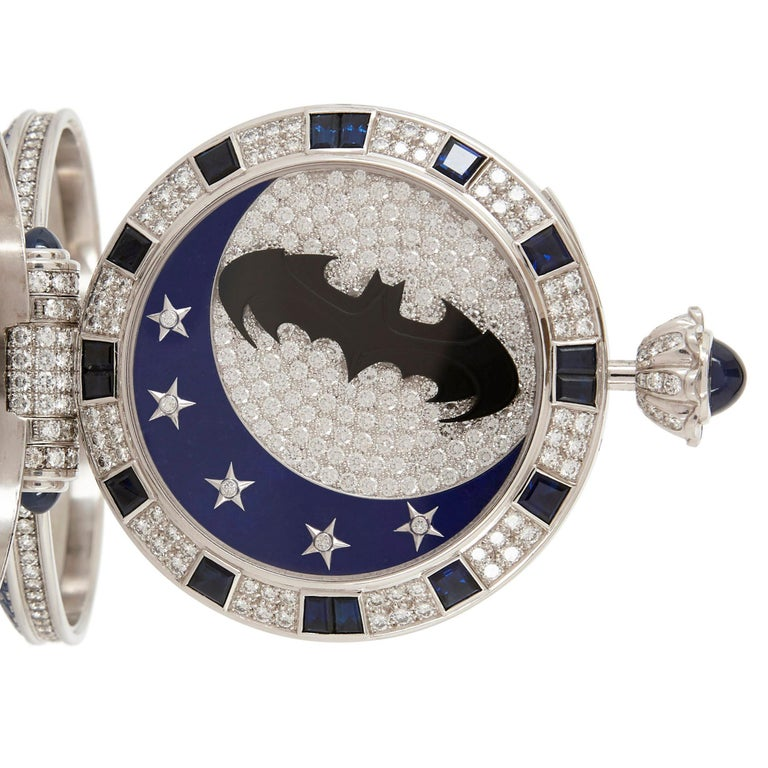 Swiss Unique and Magnificent Jewel Encrusted Automaton Watch by Audemars Piguet For Sale
