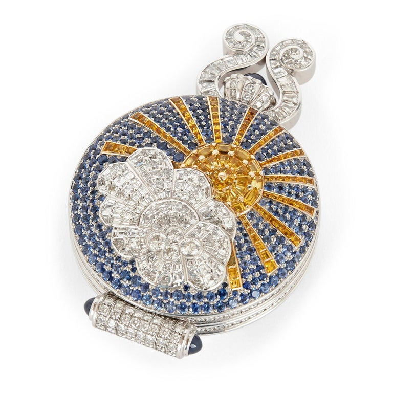 Unique and Magnificent Jewel Encrusted Automaton Watch by Audemars Piguet In Good Condition For Sale In London, GB