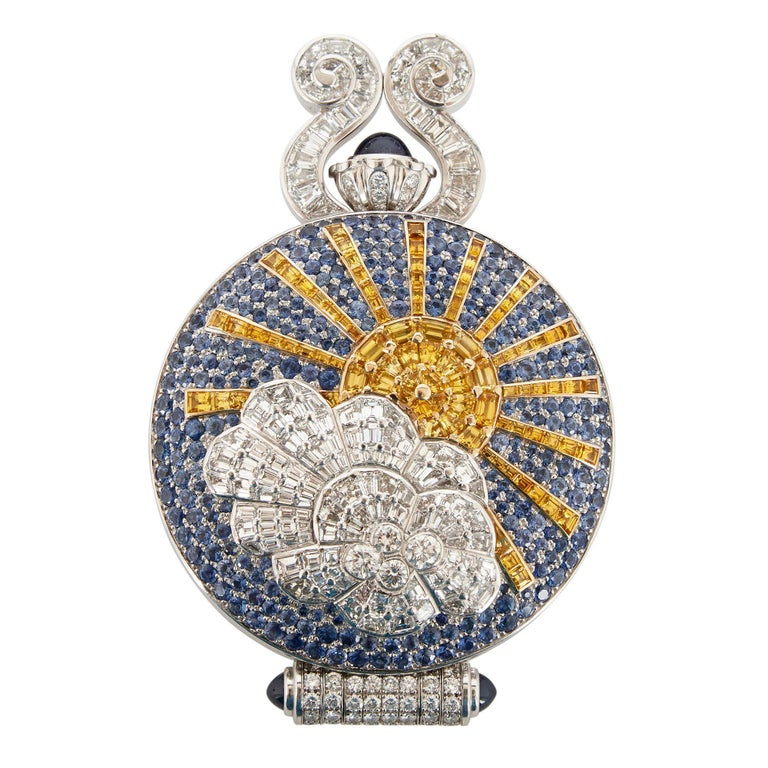 20th Century Unique and Magnificent Jewel Encrusted Automaton Watch by Audemars Piguet For Sale