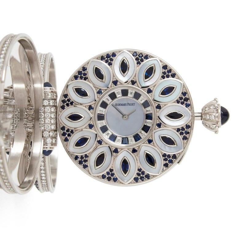 Unique and Magnificent Jewel Encrusted Automaton Watch by Audemars Piguet For Sale 1