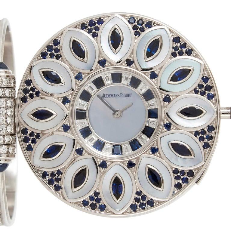 Unique and Magnificent Jewel Encrusted Automaton Watch by Audemars Piguet For Sale 2