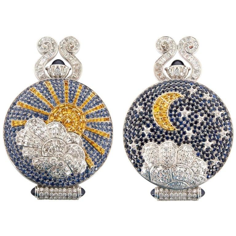 Unique and Magnificent Jewel Encrusted Automaton Watch by Audemars Piguet For Sale