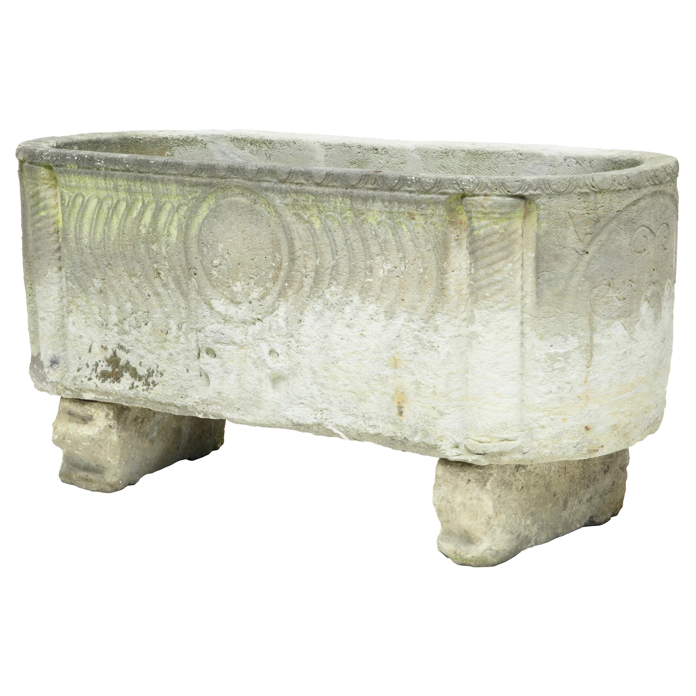 Unique Anglo Roman Limestone Sarcophagus