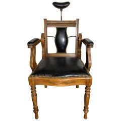 Unique Antique 19th Century Barber, Dentist Chair