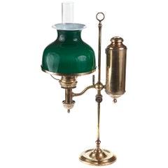 Unique Antique Adjustable Brass Desk Lamp, circa 1880