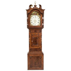 Unique Antique English Grandfather Clock, Mahogany, 18th Century