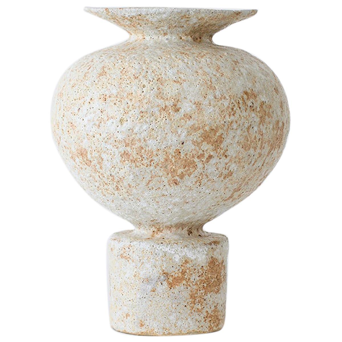 Unique Áptera 4 Stoneware Vase by Raquel Vidal and Pedro Paz