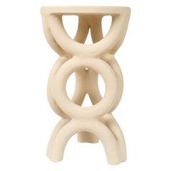 Unique Arch Circular White Stool by Mesut Öztürk