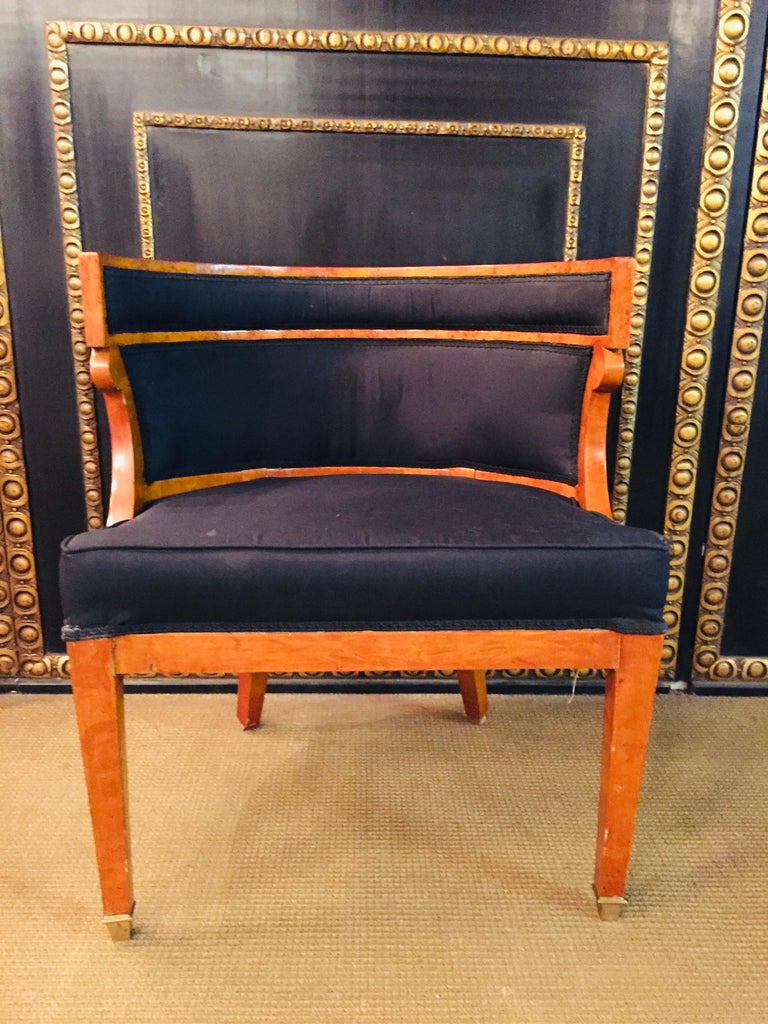 Unique Armchair with Wide Rounds Lean Biedermeier Style ...