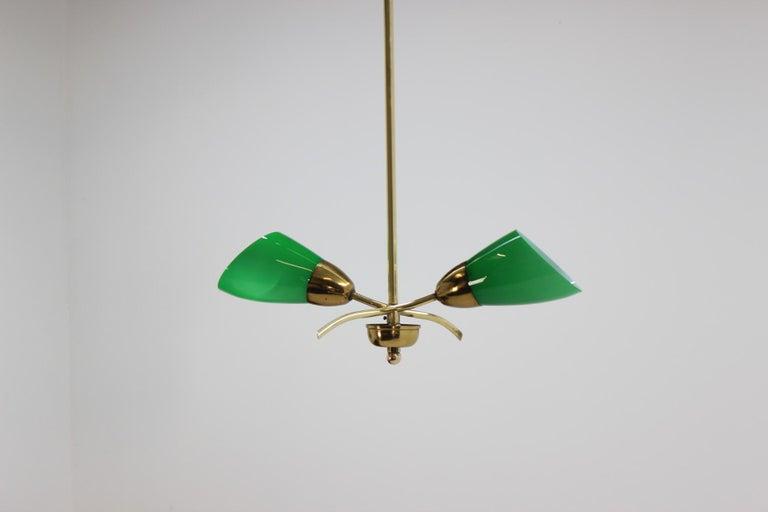 Unique Art Deco Chandelier, Czechoslovakia, 1930 For Sale 3