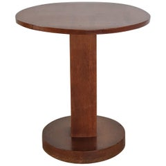 Unique Art Deco Side Table in Wood