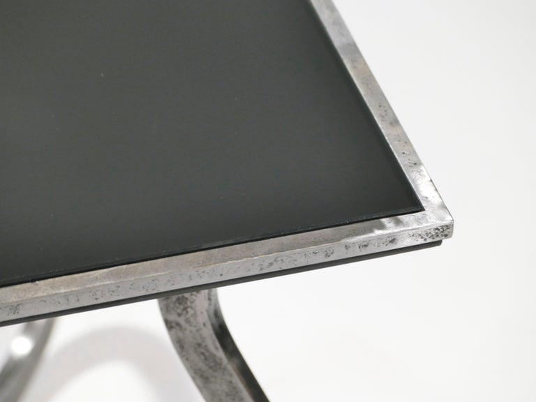Unique Art Deco Wrought Iron Coffe or Side Table, 1940s For Sale 2