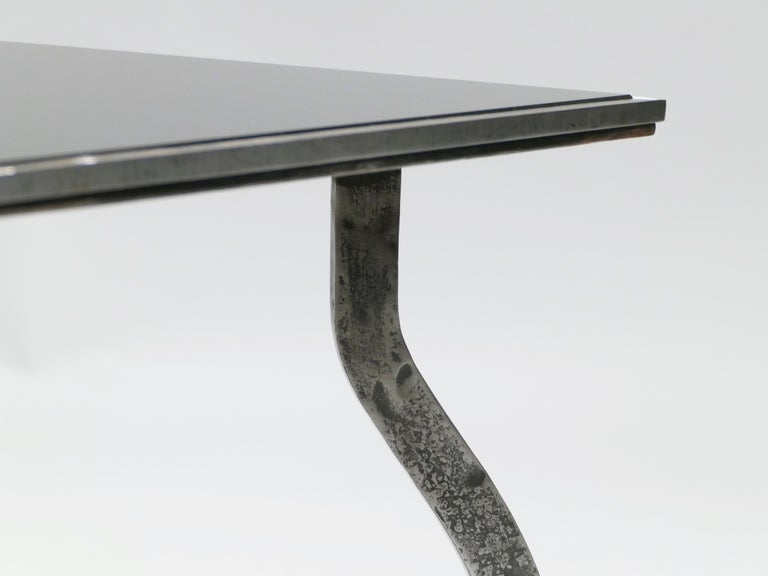 Unique Art Deco Wrought Iron Coffe or Side Table, 1940s For Sale 3