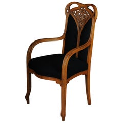 Unique Art Nouveau / Nancy, Armchair Chair L. Majorelle